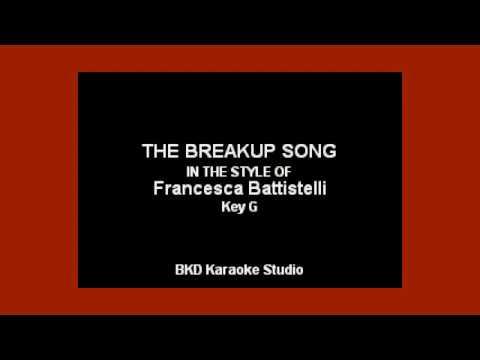 Francesca Battistelli - The Breakup Song (Karoke with Lyrics)