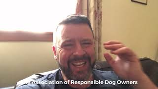 Jamie penrith of The Association of Responsible Dog Owners