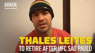 Thales Leites to Retire After UFC Sao Paulo, Says Mind, Body Had