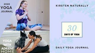 30 DAY YOGA JOURNAL for HOME - YWA Yoga Challenge
