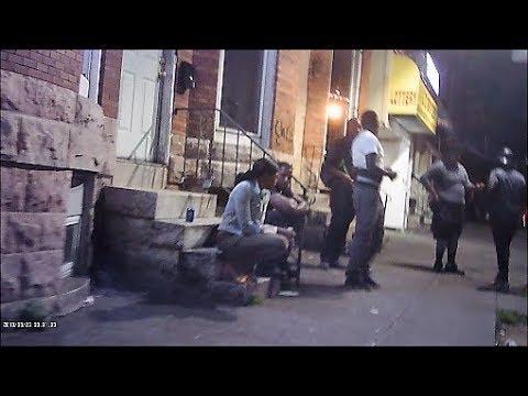 BALTIMORE HOOD UP CLOSE AT NIGHT / GUNFIRE HEARD