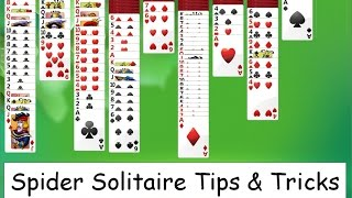 Spider Solitaire - Tips & Tricks for Advanced Play w/ 4 Suites