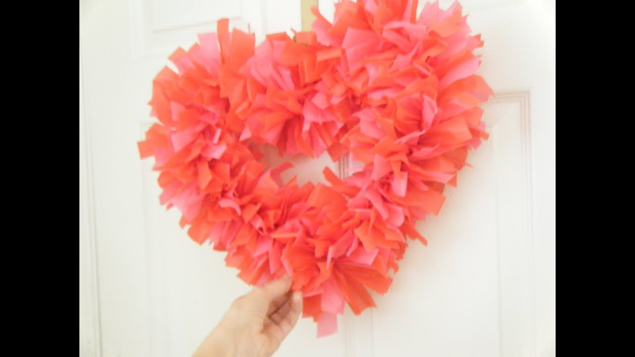 DIY How To Make A Heart Shaped Wreath For Valentines Day