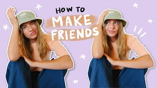 how to make friends in school when you don't have any :')