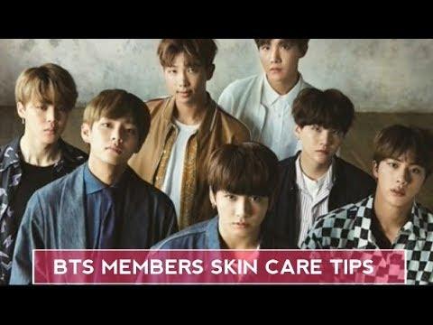BTS MEMBERS SKINCARE TIPS
