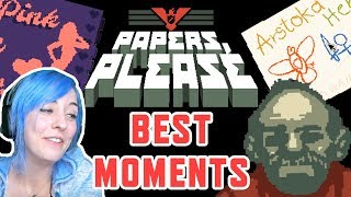 BEST PAPERS, PLEASE Highlights, Moments, and Reactions Compilation in AriaBlarg's Playthrough