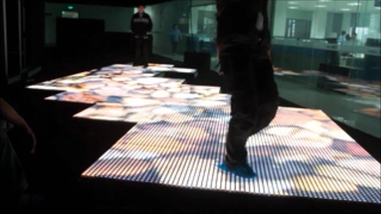 Gtek Led Interactive Video Floor Demonstration P31 Youtube