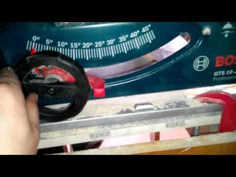 Видео обзор: Распиловочный стол BOSCH GTS 10 J