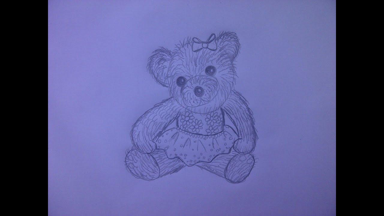 Teddybär zeichnen. Kuschelbär malen. Zeichnen lernen für Anfänger ...