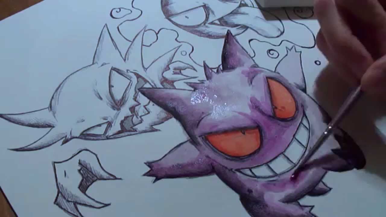 Drawing Pokemon  Ghost/Poison Addition YouTube