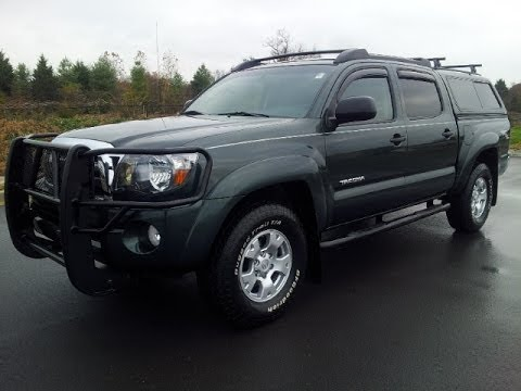 SOLD.2009 TOYOTA TACOMA SR5 DOUBLE CAB TRD OFF-ROAD 4X4 V-6 TOPPER BRUSHGUARD CALL 855.507/8520