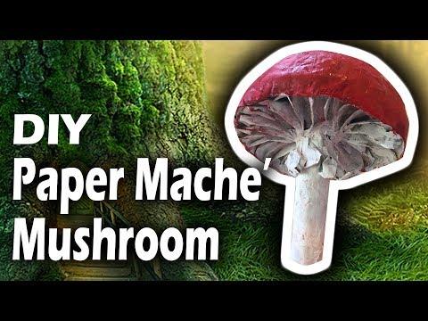 Paper Mache Red Mushroom Decoration Tutorial