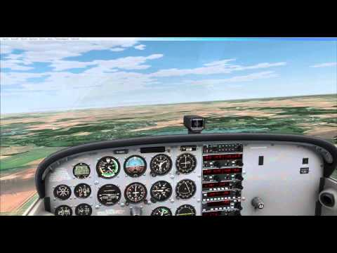 A2A Cessna Flight Dreux to St Cyr L Ecole with France VFR scenery
