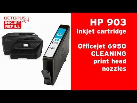 HP 903 inkjet cartridges - print head nozzle cleaning OfficeJet 6950