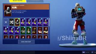 New LEAKED A.I.M. SKIN With FULL SET And A.X.E. PICKAXE/HARVESTING TOOL Coming To FORTNITE