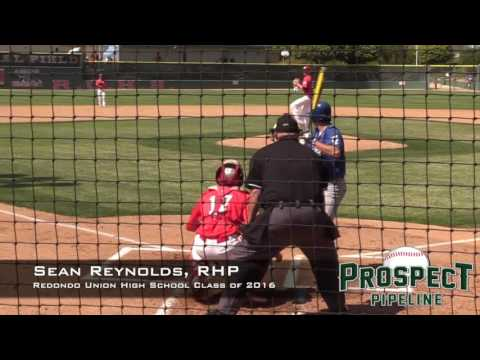 Sean Reynolds Prospect Video, RHP, Redondo Union High School Class of 2016