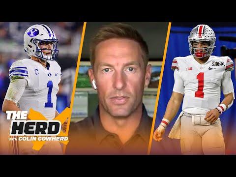 Joel Klatt breaks down NFL potential of Mac Jones, Justin Fields, and Zach Wilson   NFL   THE HERD