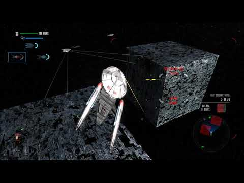 Star Trek Legacy: Ultimate Universe 2.2 - Advanced Federation Vessels vs. Borg Cubes