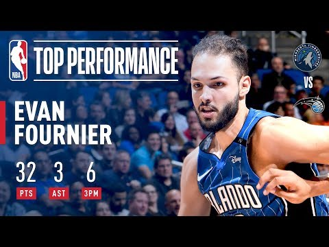 Evan Fournier Puts Up A Career High 32 Points vs The Timberwolves