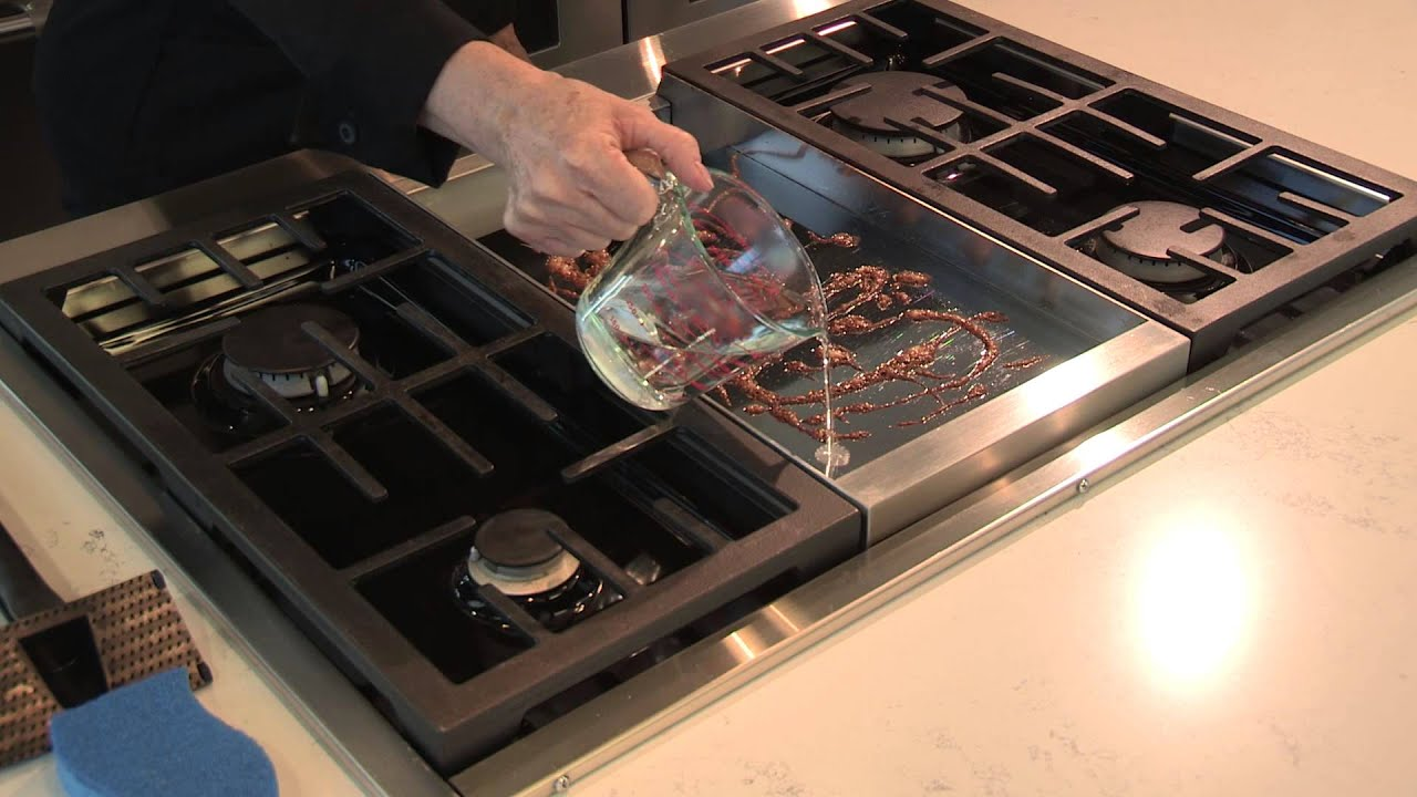 Cleaning Your Chrome Infused Griddle   YouTube