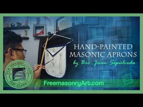 Hand Painted Masonic Aprons