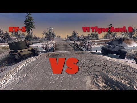 KV-2 VS VI Tiger Ausf. B | Men of War: Assault Squad 2 |