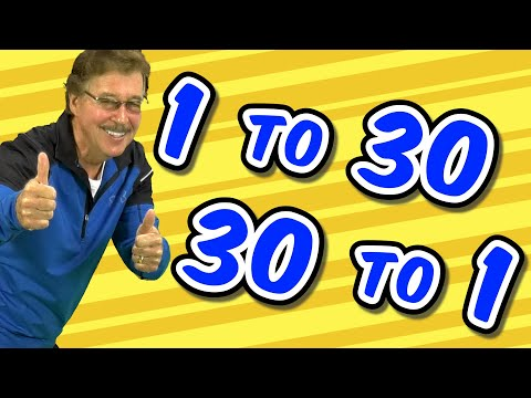 1 to 30 and 30 to 1 | Jack Hartmann Count to 30 | Counting Song