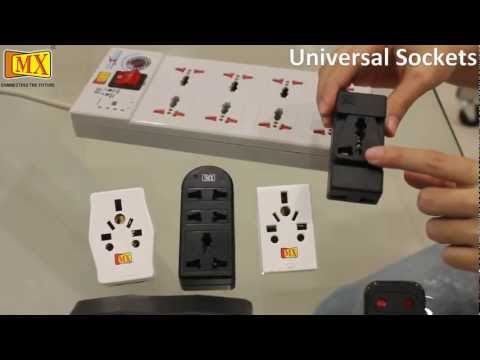 Multi Socket Adaptor with Universal Sockets Surge protector with Fuse - Travel Adapter