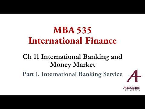 Part 1. International Banking Service