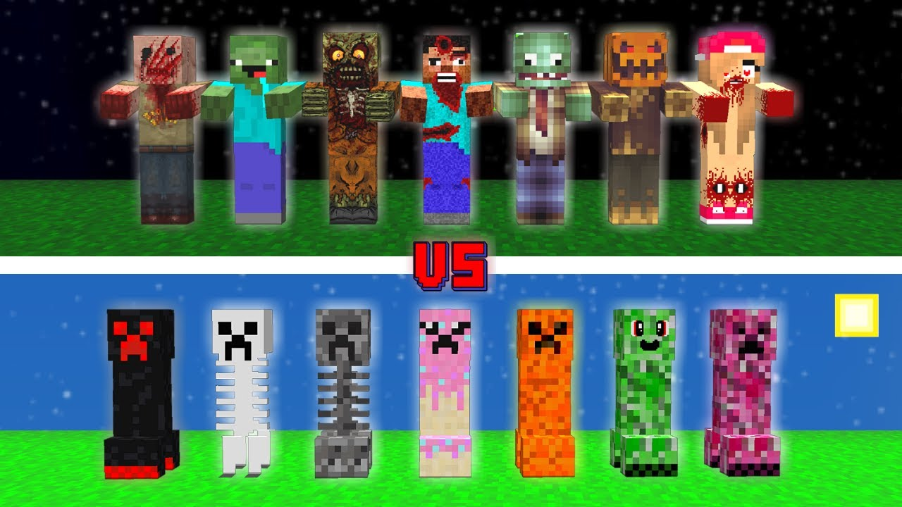 ZOMBİ ÇETESİ VS CREEPER ÇETESİ! 😱 - Minecraft