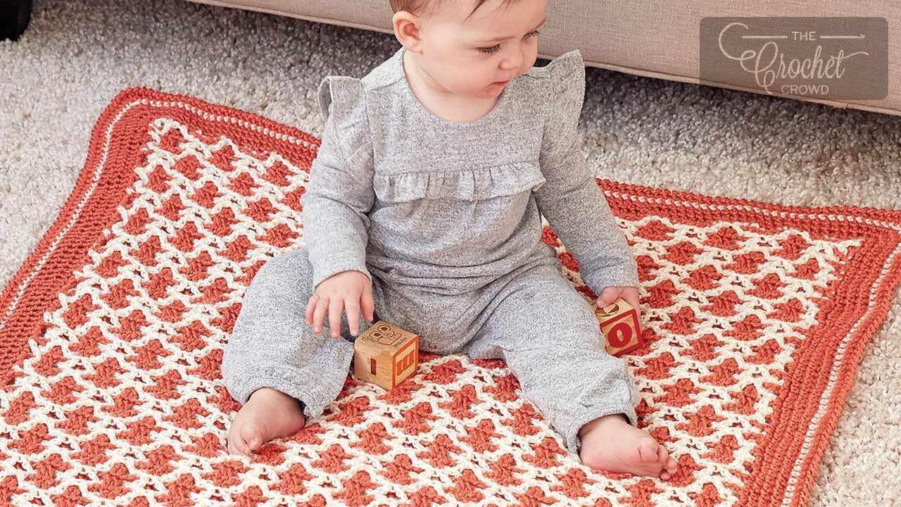 Interlocking Crochet for Beginners - Baby Blanket