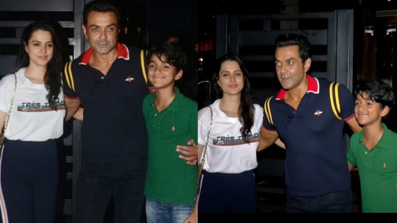 Race 3 Actor Bobby Deol Seen With Wife Tanya Deol And Real Son First