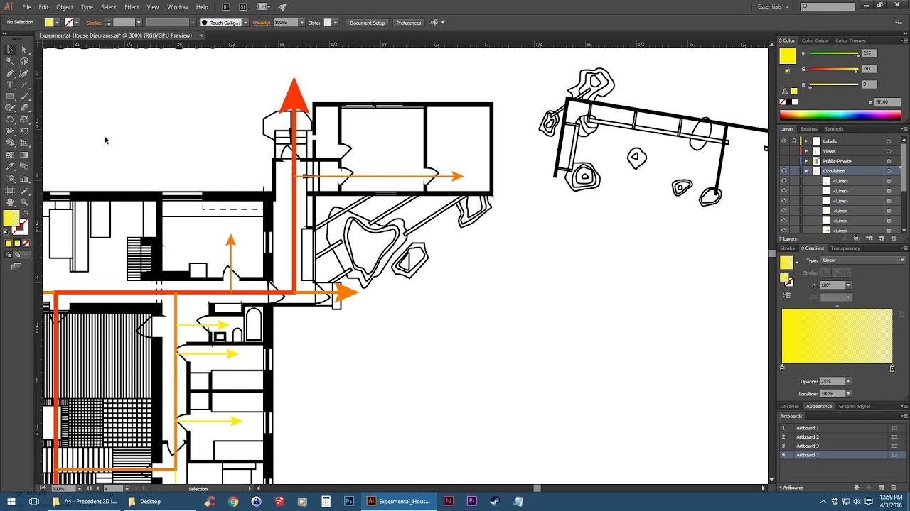Adobe illustrator floor plan diagrams tutorial youtube for Adobe floor