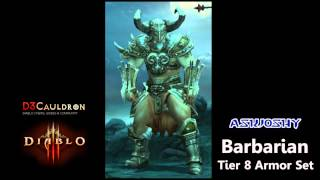 barbarian all armor sets all tiers through inferno difficulty diablo 3