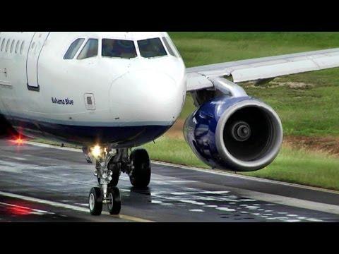 Jet Blue / Airbus A320 Wet Takeoff at Princess Juliana, St Maarten (Full HD1080p)