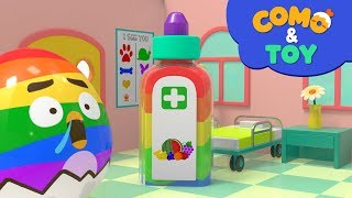Como and Toys | Hospital 3 | Learn colors and words | Cartoon video for kids | Como Kids TV