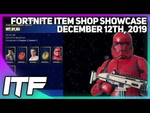 Fortnite Item Shop *NEW* STAR WARS EVERYTHING OMG!! [December 12th, 2019] (Fortnite Battle Royale)