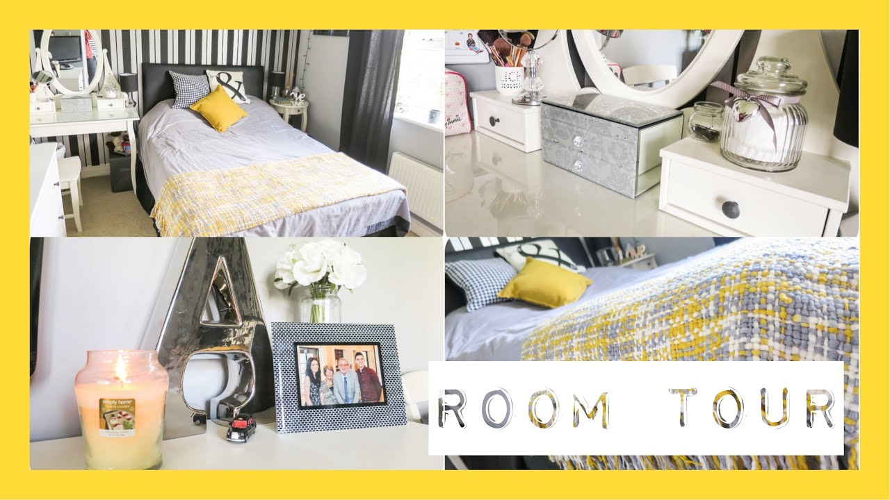 Room Tour Mustard Yellow Grey Black White