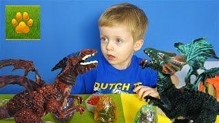 Драконы Яйца с Сюрпризами Распаковка Обзор  Детское видео про игрушки Видео для детей Lion boy