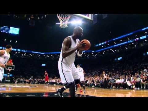 Heat vs Nets Playoffs: Kevin Garnett's Strong Putback Dunk