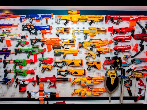 Aaron's NERF Arsenal Spring 2016! (Over 100 Blasters!)