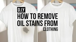 HOW TO: REMOVE OIL STAINS FROM CLOTHING (EASY) | DIY TUTORIAL | JAIRWOO