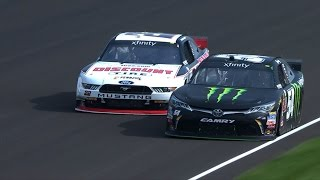 busch slips by blaney on final lap for win