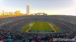 NFL Time Lapse: Bank of America Stadium (Carolina Panthers - End Zone)