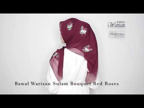 Bawal Sulam Bouquet Red Roses