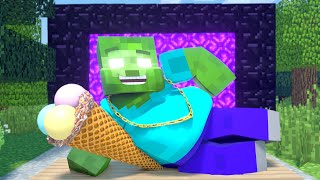 Minecraft Life of Zomma \u0026  ZomBo | Fat Zombie Herobrine | Minecraft Animation