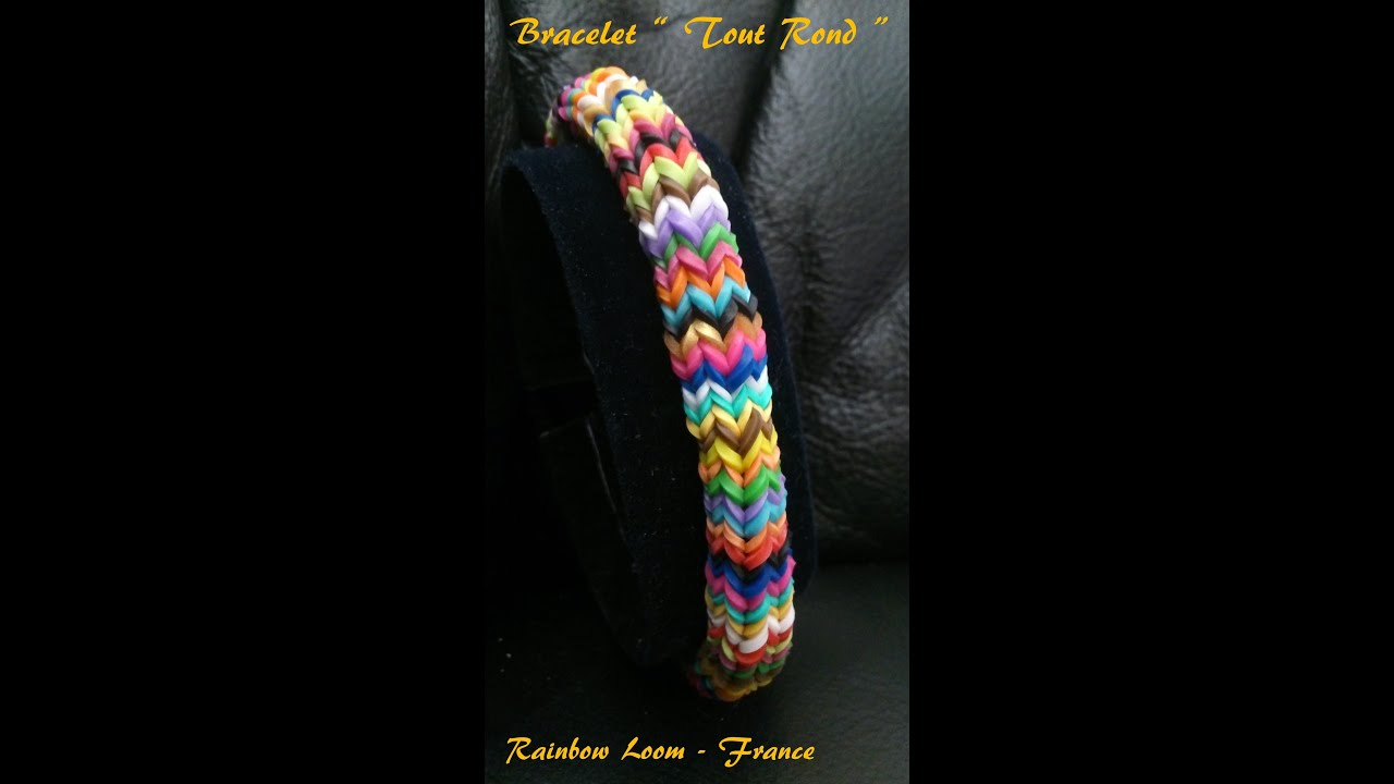 bracelet rond rainbow loom tutoriel fran ais niveau interm diaire youtube. Black Bedroom Furniture Sets. Home Design Ideas