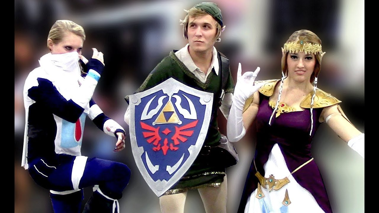 Awesome Zelda Link Sheik Cosplay Costumes At Comic Con Youtube