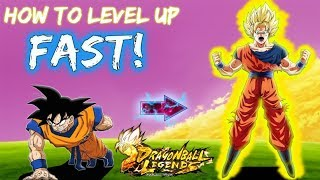 DRAGON BALL LEGENDS USA RELEASE!!! HOW TO LEVEL UP FAST!!!