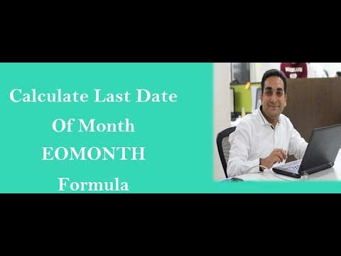 Eomonth Formula In Excel Hindi
